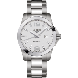 Longines Conquest Gent Silver